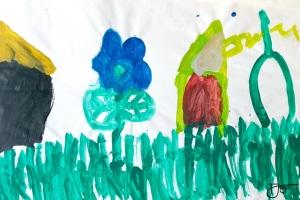 Erste Kindermalereien